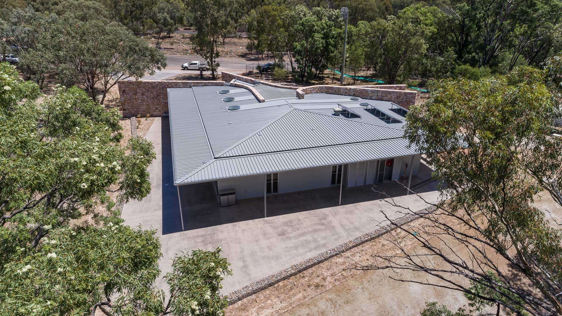 Warrumbungles Visitor Centre - Aerial #1 | Hines Constructions, Central West NSW