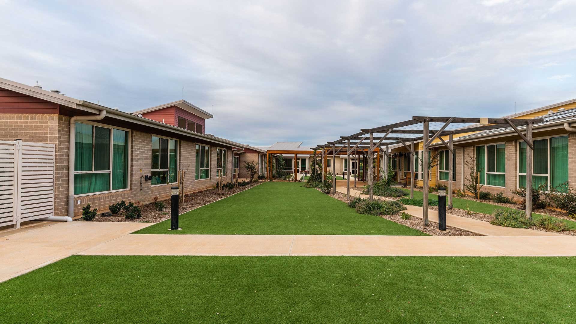 Jemalong Retirement Village - Courtyard | Hines Constructions, Central West NSW