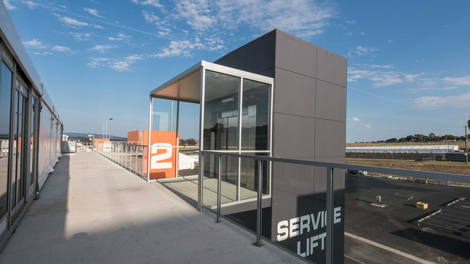 Mt Panorama Service Elevator - Top Exterior | Hines Constructions, Central West NSW