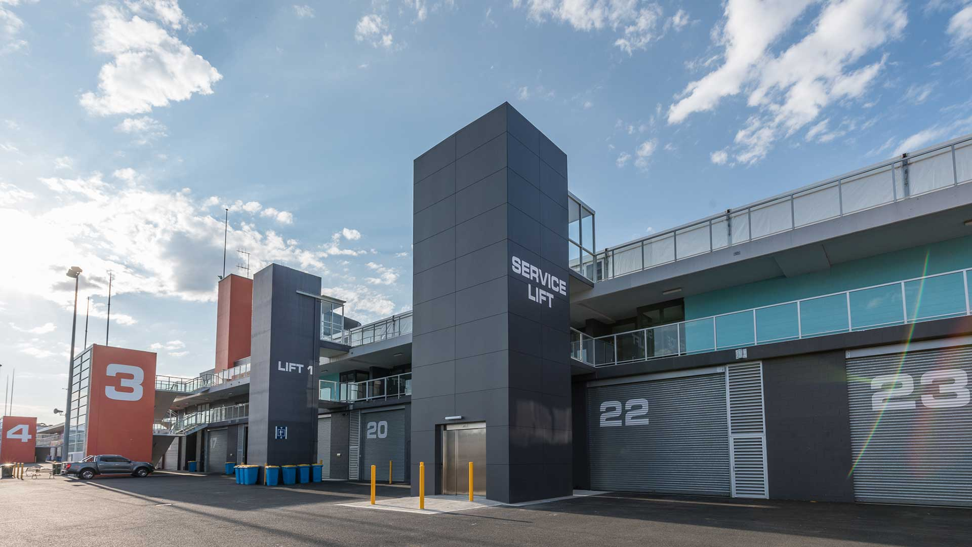 Mt Panorama Service Elevator - Wide Exterior #2 | Hines Constructions, Central West NSW